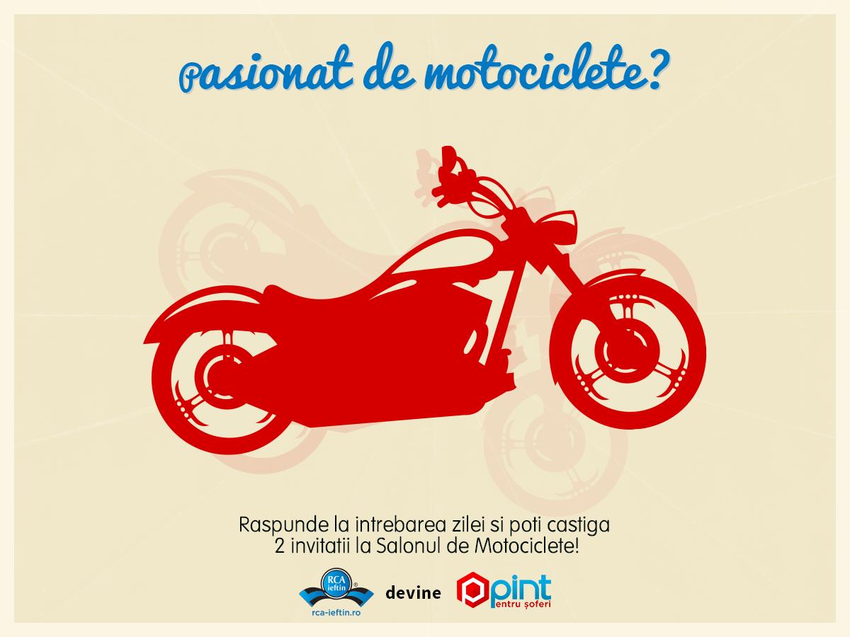 Concurs pentru pasionatii de motociclete!